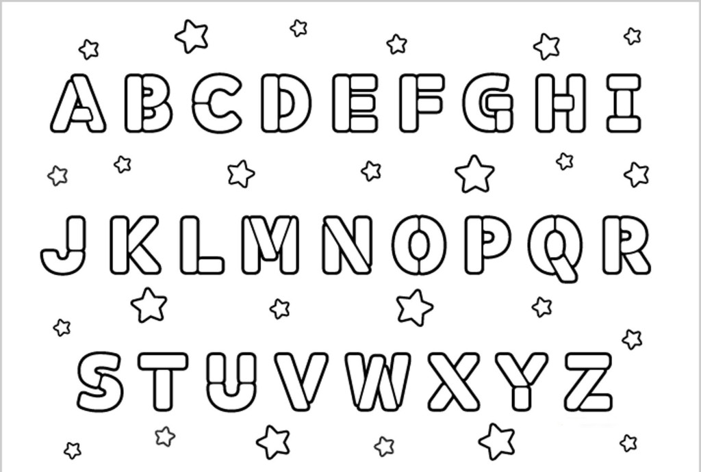 Printable Coloring Pages Alphabet
