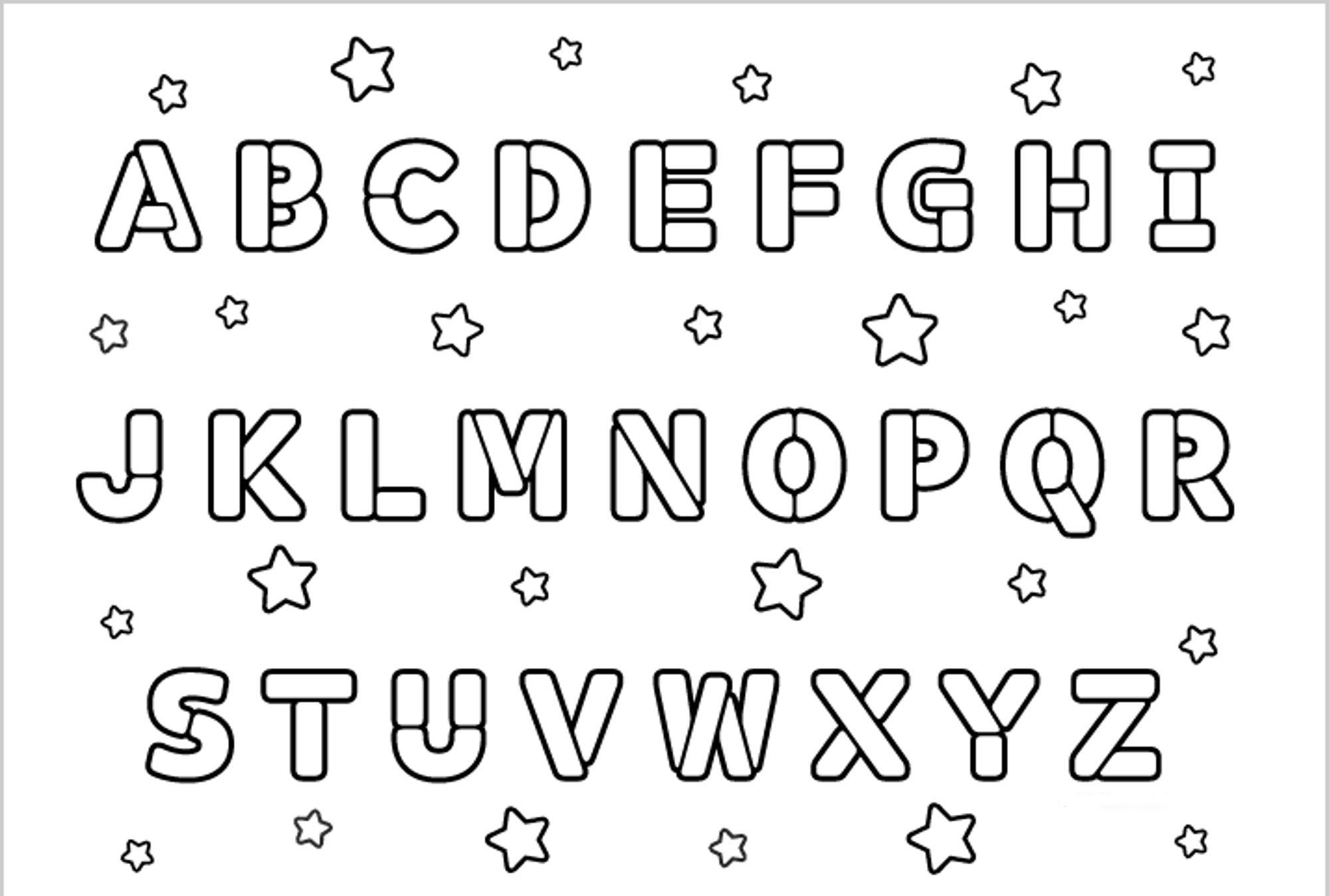 Coloring games in english - Printable Coloring Pages Alphabet