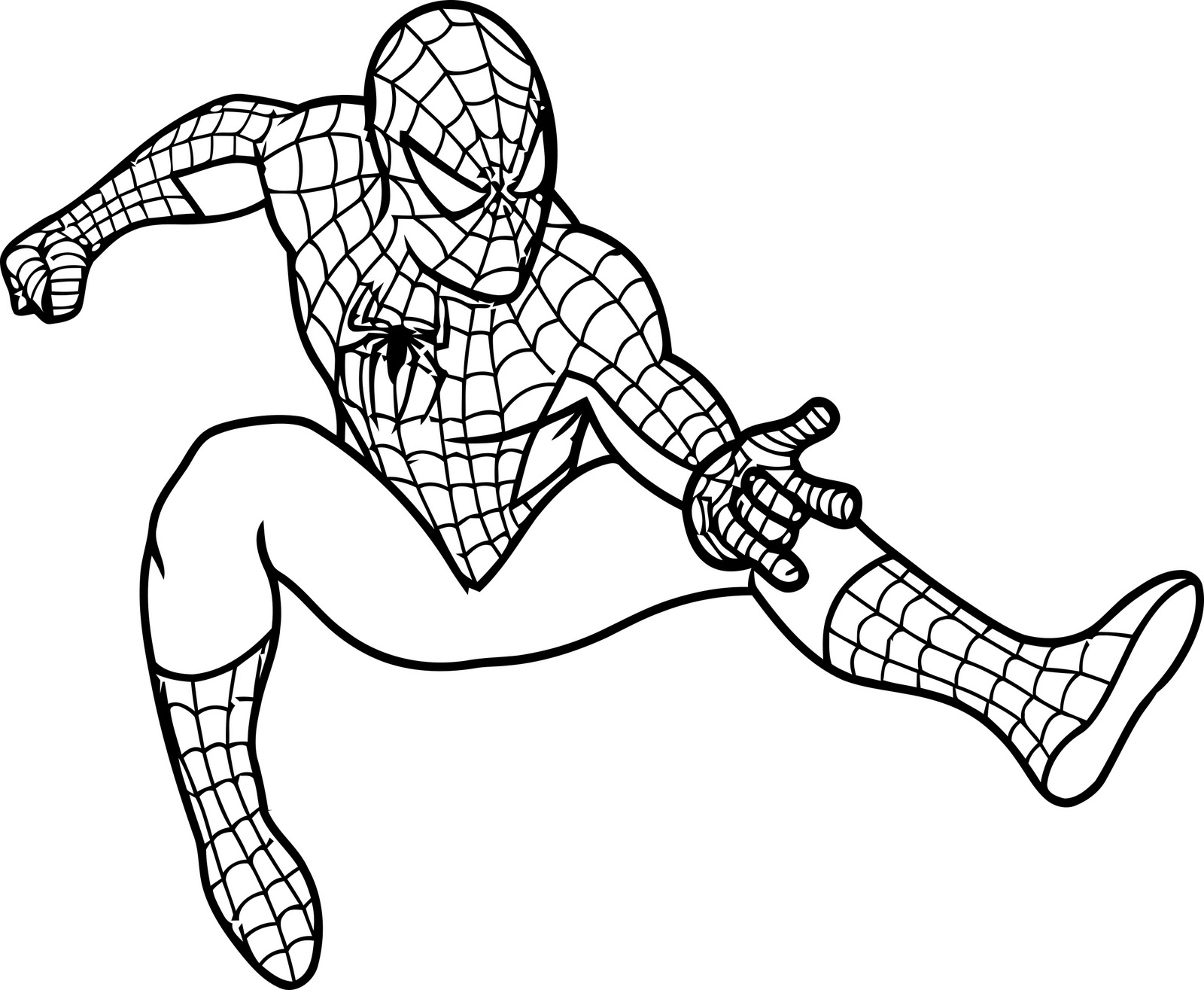 spiderman coloring pages - Coloring Pics For Kids