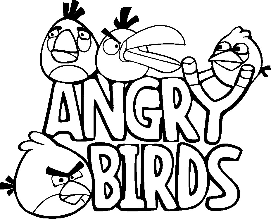 angry birds coloring page - Coloring For Kids