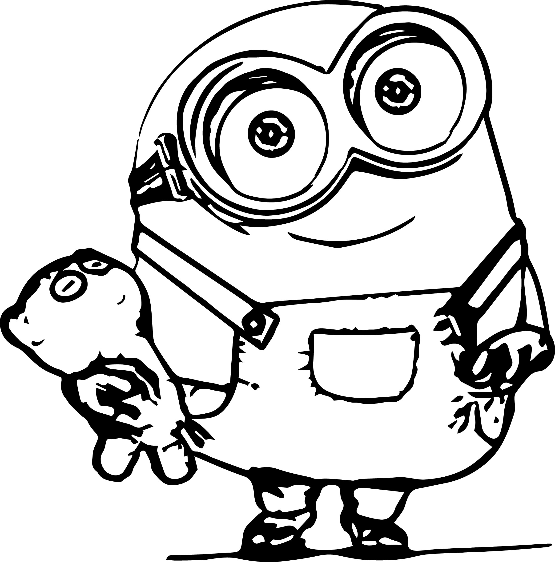 minion coloring page - Coloring Paages